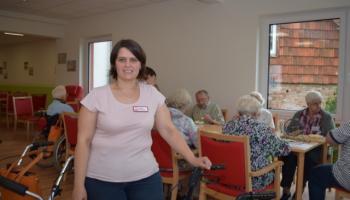 Pflegedienstleitung Melanie Petroschka in der Tagespflege St. Vinzenz