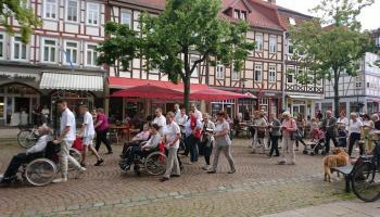 Fronleichnamsprozession 2019 in Duderstadt. Foto: Caritas