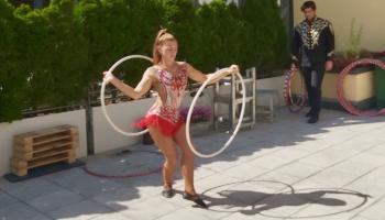 Zirkus Salinon auf der LWH-Dacheterrasse. | Foto: Caritas