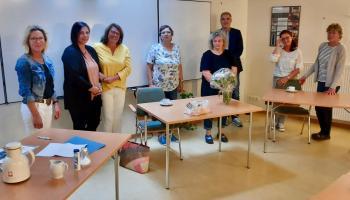 Carla Rust (4.v.l.) wurde in den Ruhestand verabschiedet. | Foto: Caritas